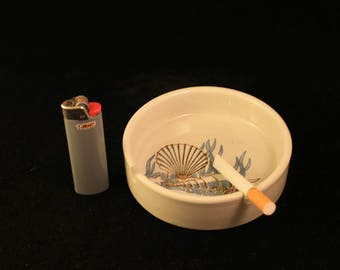 Otagiri Sea Shell Ocean Ashtray