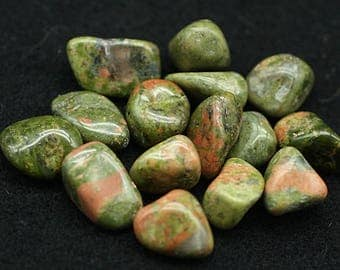 ONE Bag of colorful Unakite polished nuggets - Mineral Specimens/Gemstones for Sale