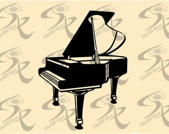 0477_ Vector Musical instruments PIANO,Signature Silhouette,SVG,DXF,ai, png, eps, jpg, Download files, Digital, graphical