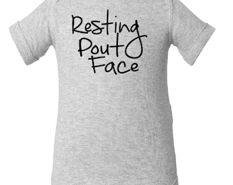 Resting Pout Face -  infant baby Onesie Creeper