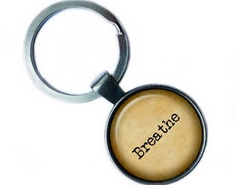 Breathe Keychain Keyring
