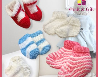 Bootees in different colours and shapes and sizes