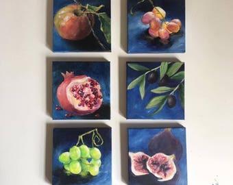 Mini Fruit Paintings
