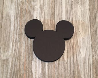 Mickey Mouse Cutouts Mickey Mouse Birthday Decorations Mickey Mouse Favor Tags