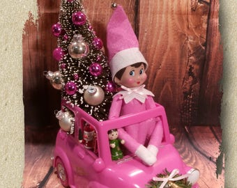 Pink / Elf on the Shelf / Pixie / Elves / Pink Tree / Glass Baubles / Kitschy Xmas / Christmas in July / Christmas decorations