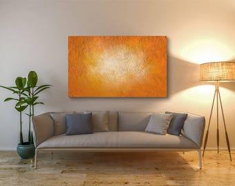 "Abstract Orange (Print) 40"" x 32"""