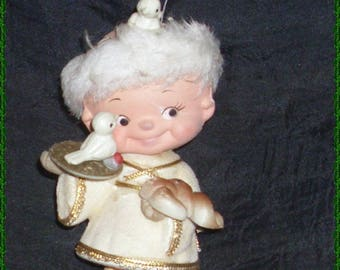 Rare Vintage Kewpie Monk Christmas Ornament
