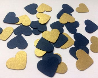 Table Confetti navy gold party decorations birthday wedding anniversary baby shower event sprinkles