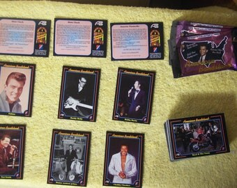 80 1993 American Bandstand Trading Cards Made by Collect-A-Card