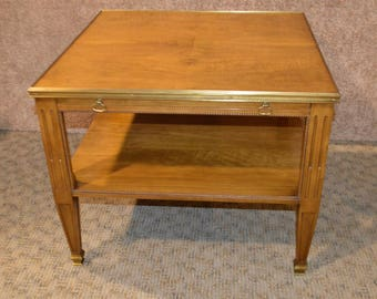 Vintage Baker Mid Century Modern Table w/Brass Detail
