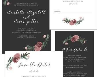 Customizable Floral Wedding Invitation | Print-at-Home