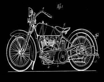 Harley Cycle Support Patent #1,675,551 dated June 5, 1925