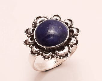 925 Solid Sterling SIlver LAPIS Ring