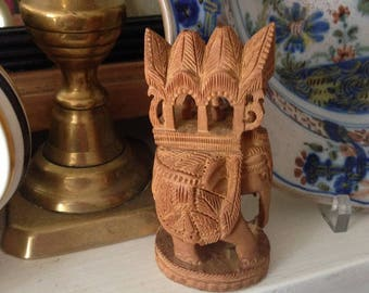 Hand Carved Wooden Indian Elephant