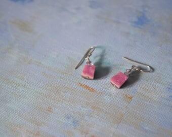 Pink Rock Earrings