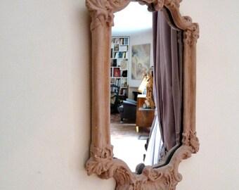 Miroir ancien baroque, façon boudoir