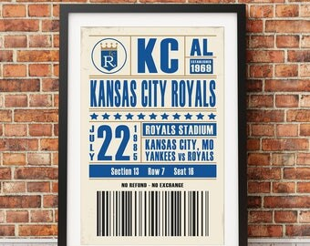Kansas City Royals Ticket Print