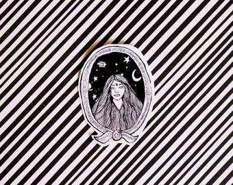 Decal / Moon Goddess / sticker / magic world series / Witch