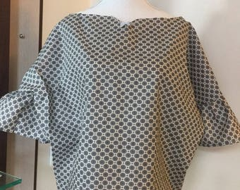 Unique hand-made cotton blouse