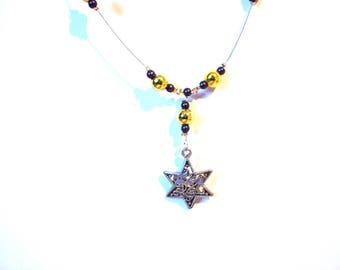 Star yellow pendant necklace