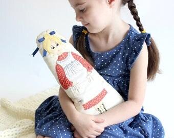 Handmade Doll Pillow, Vintage Children's Toy