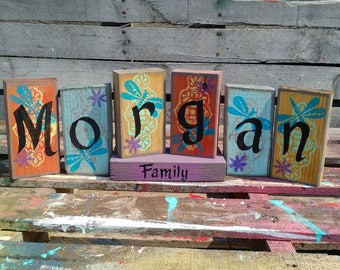 Family Name Sign, Family Sign, Blended Family Sign, Family Love Sign, Proud Family Sign, Mother Gift Sign, Grandmother Gift Sign, USA Made
