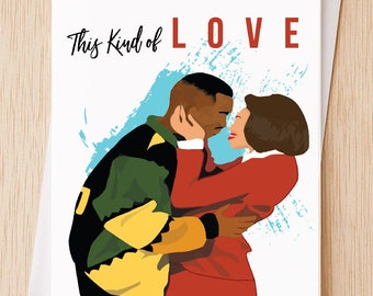 This Kind Of Love Funny Sexy Valentines Day Card, Damn Gina, Classic TV  Martin TV Show, 90's, Card for Wife, Husband, Girlfriend Boyfriend.