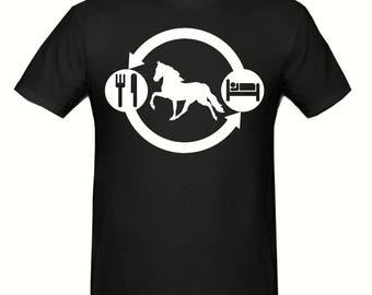 Eat sleep horse t shirt,unisex t shirt sizes small- 2xl, Funny t shirt