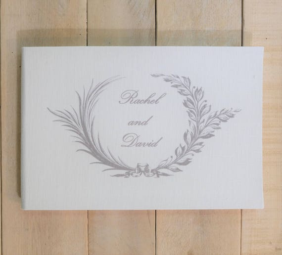 Personalized Linen Guest Book - Contemporary Guest Book