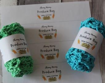 PRODUCE BAG LABELS mesh bag labels reusable bag labels packaging
