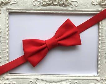 Elegant red bow dark - child