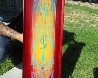 Custom Pinstriping Art Work and Hand-Painted Signs, Made to Order
