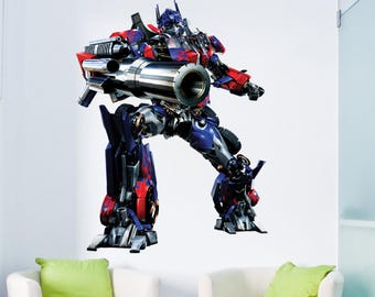 Transformers Optimus Prime Wall Decal Transformers Bedroom Decor Kids  Transformers Wallpaper Stickers Optimus Room Designs Transformer