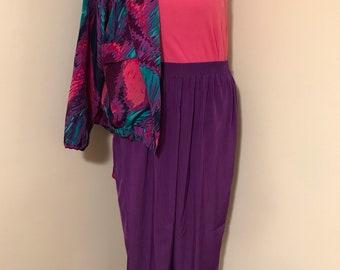 Vintage Purple Satin Pants