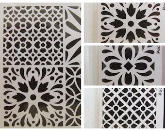 Pochoir Motifs style Carreau de ciment Artemio vintage Home Deco au choix