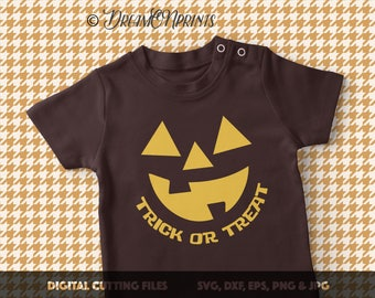 Jack O Lantern Svg, Trick or Treat SVG, Fall Pumpkin SVG, Pumpkin Outline Svg, Autumn svg, Fall svg, Thanksgiving Cut Files SVDP334