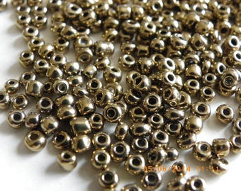 bronze 300 seed beads 3 mm glass Pearl