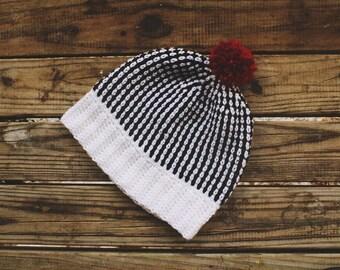 Crochet striped hat pattern