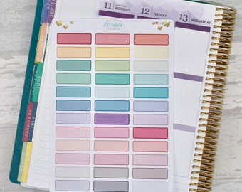 Rainbow Bordered Event Labels/ Quarter Boxes - Stickers for Planners!