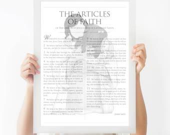Articles Of Faith, 13 Articles of Faith, LDS, LDS Sign, Articles, Faith, LDS Art, Lds Printables, Lds Printable, The Articles of Faith, Art