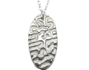 Contemporary Jewellery Pendant. Wormhole Style, Handmade, Alternative , Bespoke, Unisex