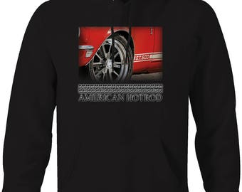 American Hotrod Ford Mustang GT500 Shelby Cobra Classic Hooded Sweatshirt- 5050