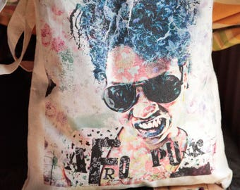 Tote Bag Afro Punk Rock Girl