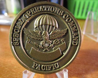 Special Operations Command Pacific SOCOM 2 Star General Challenge Coin #3776