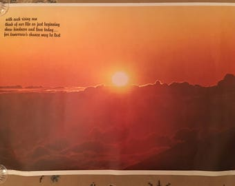 Vintage 1970's Inspirational Poster with Sunrise at Maui
