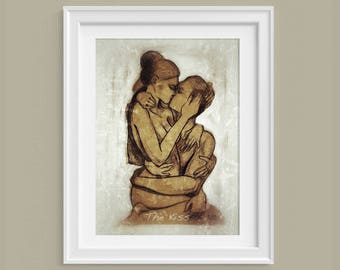 The Kiss A3 poster by Stanislao