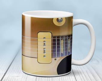 Gold-Top Electric Guitar Coffee Mug