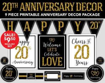 20th Party Banner Etsy