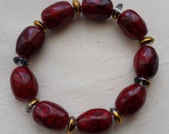 mounted on metal spring 1 elastic bracelet
