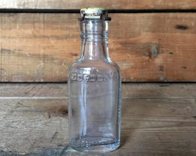 CLEARANCE Gordon's Gin, Miniature Gin Bottle, Miniature Bottle, Collectible Bottle, Collectible Liquor Bottles, Man Cave Decor, Gordon's Boa
